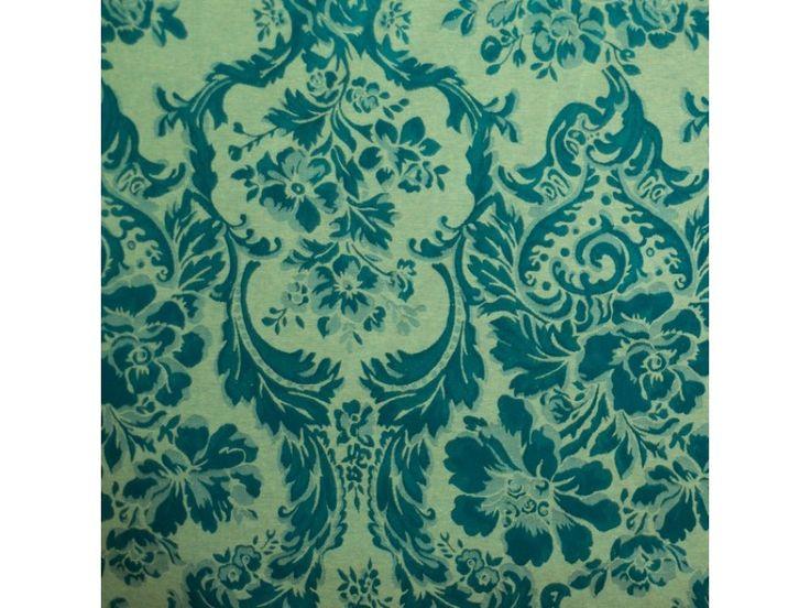 Tecido de festa Jacquard Adamascado Arabescos Azul Creme 215 (Jacquard) - Preço R$ 24.70 somente na...