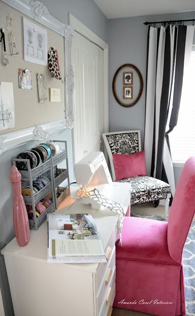 1000 images about craft room on pinterest pink accents for Craft room paint colors