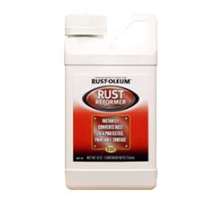 Stop rust in its tracks with Rust-Oleum® Automotive Rust Reformer. Without sanding, the coating bonds with rusty metal transforming it into a flat-black, non-rusting surface.