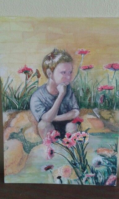 Eriq at Cedara about 4yrs old. Painted by ME