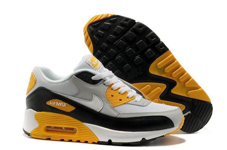 7922e7b31c ... Scarpe epB87 Nike Air Max 90 GB Essentials Sport Grigio Bianco Nero  Maize