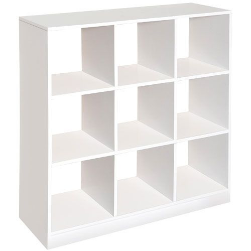 Badger Basket - 9 Cubby Storage Unit, White  Perfect for classroom storage