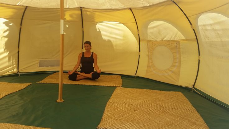 Our Lotus Belle tent is the perfect spot for reflection, yoga and meditation  Glamping, Ikurangi Eco Retreat Rarotonga, Cook Islands, Lotus Belle