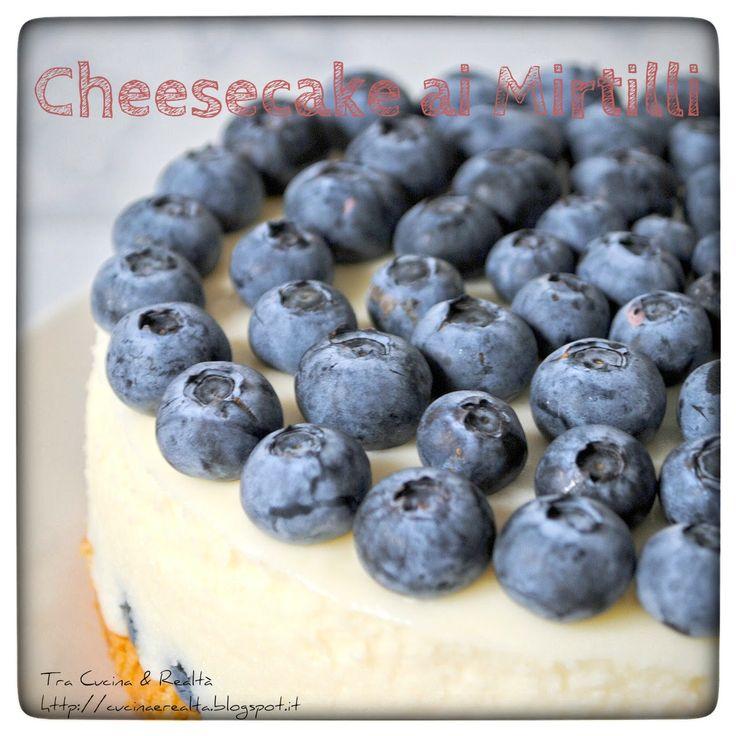 Tra Cucina & Realtà: Cheesecake ai Mirtilli con base alla Vaniglia http://goo.gl/tg9fW8