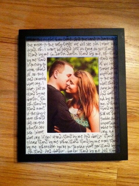 Totally buying this (if i could write pretty I would do it myself) for our wedding photo