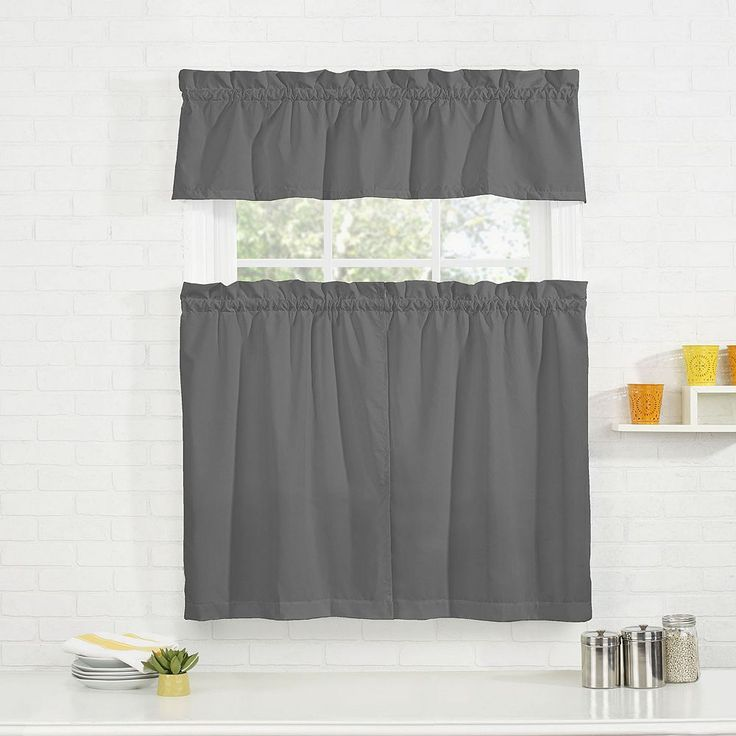 Gray Kitchen Valances: Best 25+ Grey Kitchen Curtains Ideas On Pinterest