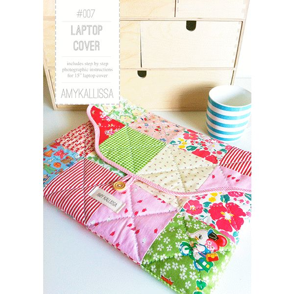 Laptop Cover Sewing Pattern Available in PDF Download and Print