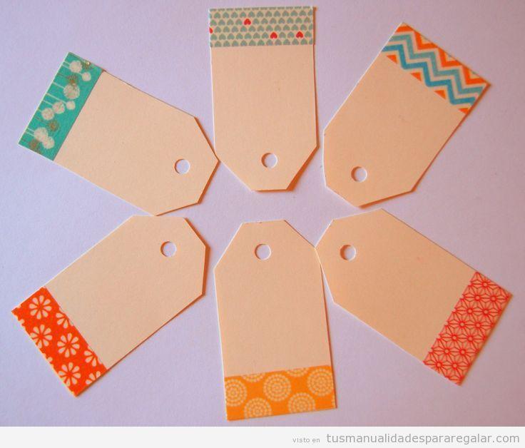 Etiquetas de cartulina hechas a mano