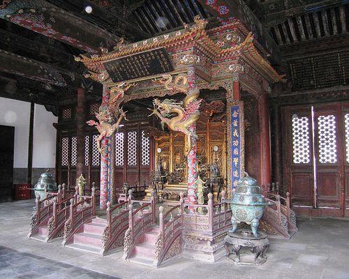 Nine Dragon Throne, Shenyang, China, Mukden Palace