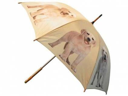 Regenschirme Hund & Co.Hund Design Regenschirm: Labrador Welpe blond beige