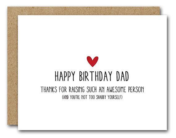 Dad Birthday Card Funny Dad Card Happy Birthday Card Happy