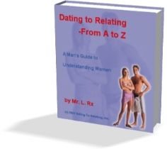 Dating To Relating - The Book - $39.95 - worth 10 times that! This is the best dating advice out there. Learn how to meet women no matter what you look like and learn how to relate to them successfully..