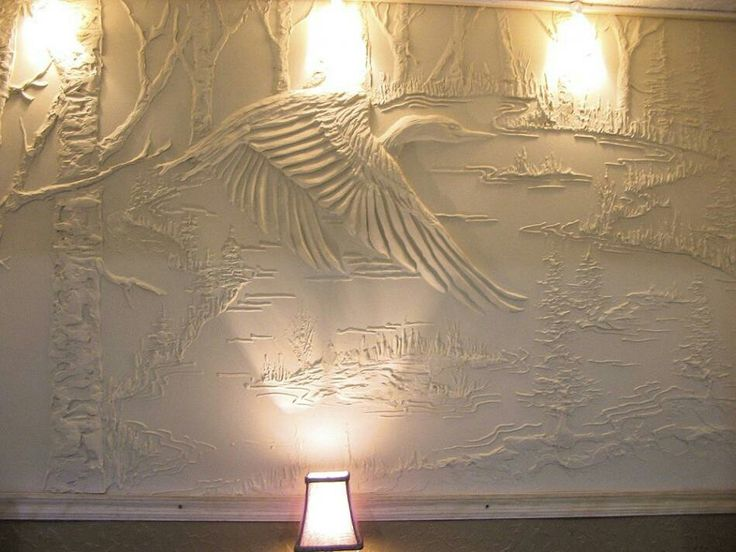 136 best images about drywall art relief on pinterest for Plaster wall art