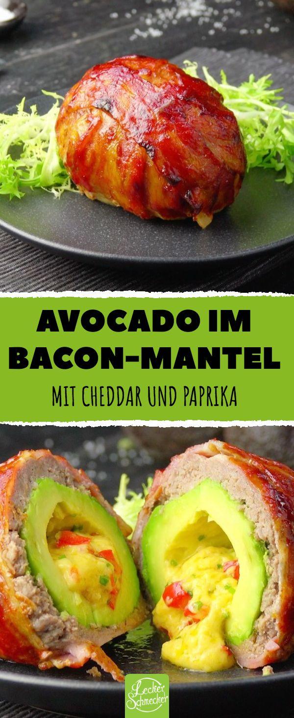 #baconmantel #hackfleisch #avocado #avocado #cheddar