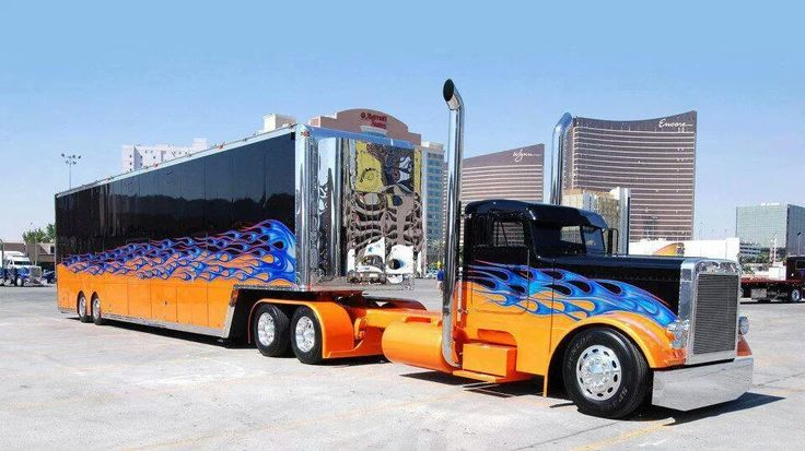 Tractor Trailer Rings : Cool paint scheme on a tractor trailer cars