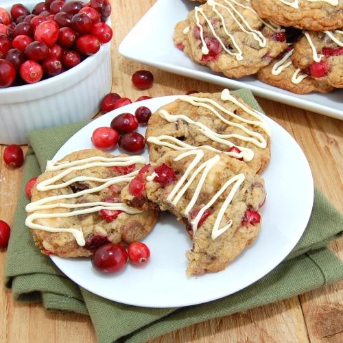 Triple-Chocolate Cranberry Pecan Oatmeal Cookies