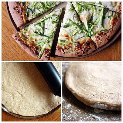 Zdrowa pizza na pełnoziarnistym spodzie