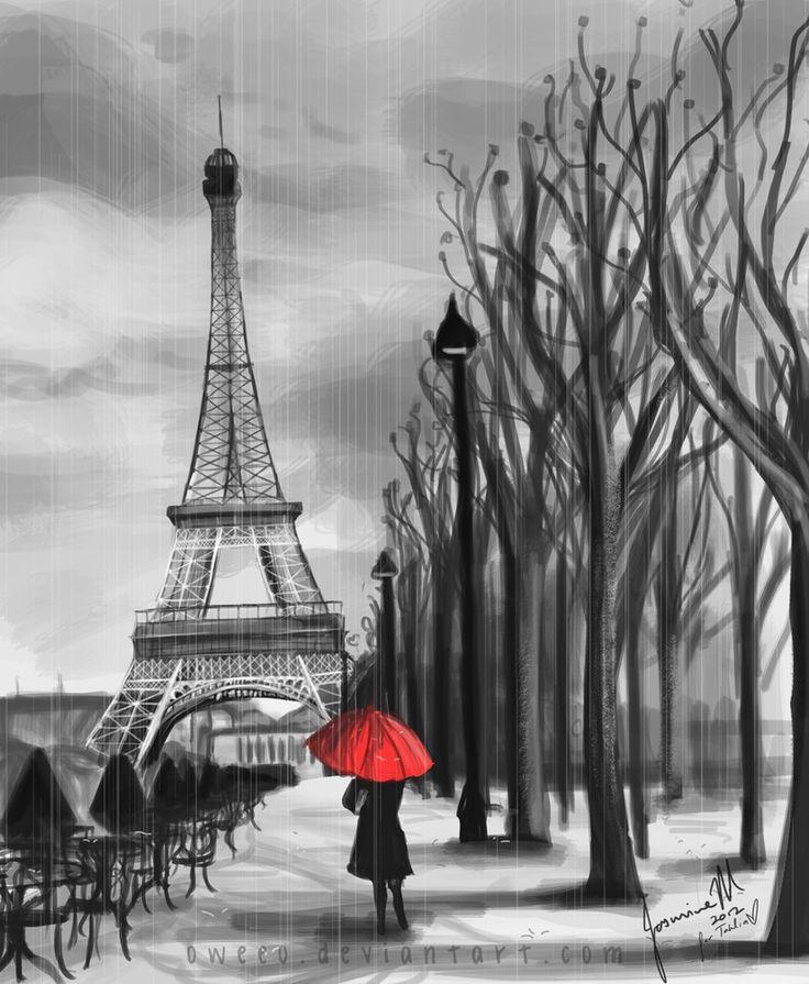 Avec son parapluie rouge by Oweeo on deviantART