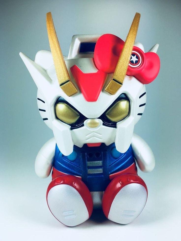 Hello kitty gundam fighter cosplay anime figure 15cm cute