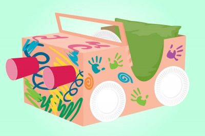 How to Make a Cardboard Box Car - Parenting.com
