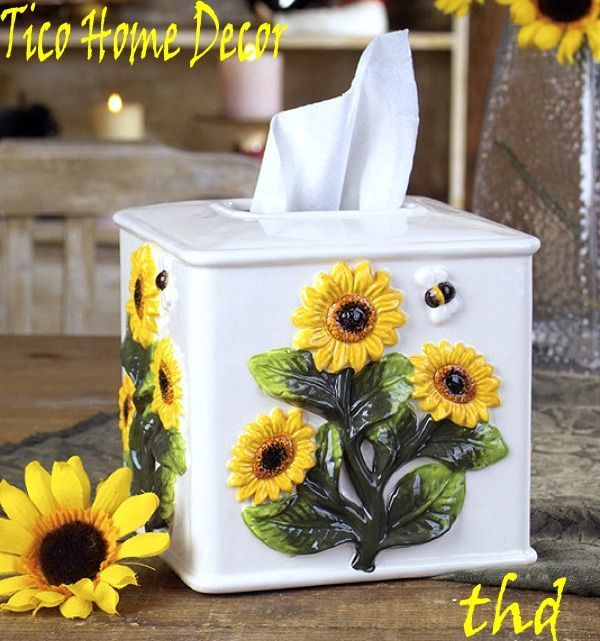 Sunflower Kitchen Decor: 16 Best Sunflower Decorations Images On Pinterest