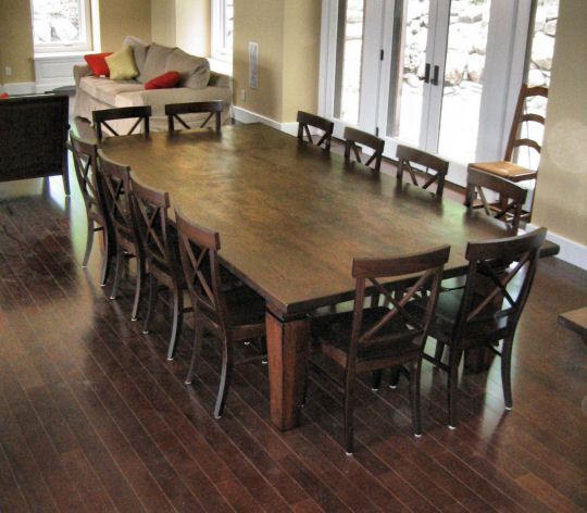 12 seat dining room table | We wanted to keep the additions as unobtrusive as possible while at ...