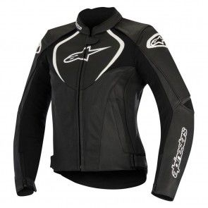 Alpinestars Stella Jaws Perforated Womens Leather Motorcycle Jackets - Black - 38
