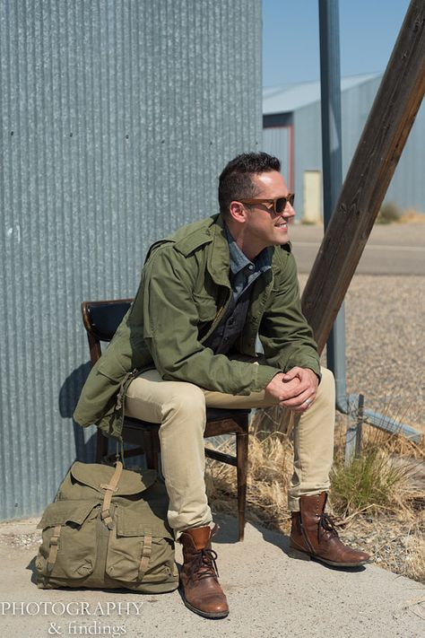 Vintage Military Field Jacket Army Green Olive by AuldMemories 1980s