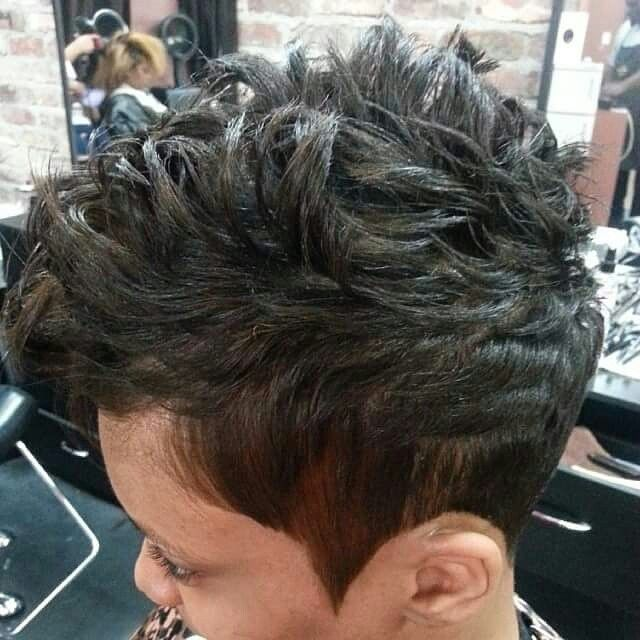 Short Razor Cut,  Book today with Tomekia@678-379-8587...Follow me on IG @overflowin2014
