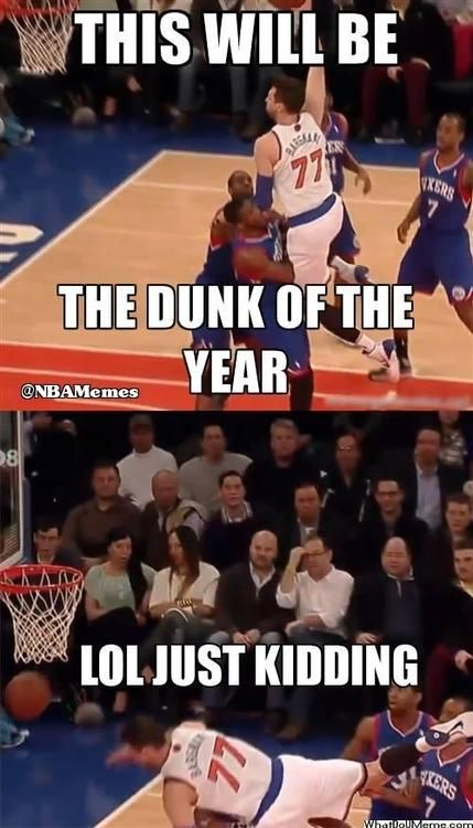 Bargnani's Dunk FAIL! - http://weheartlakers.com/nba-funny-meme/bargnanis-dunk-fail