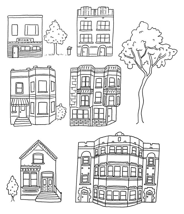 386 best Houses Illustrations Exteriors Black and White
