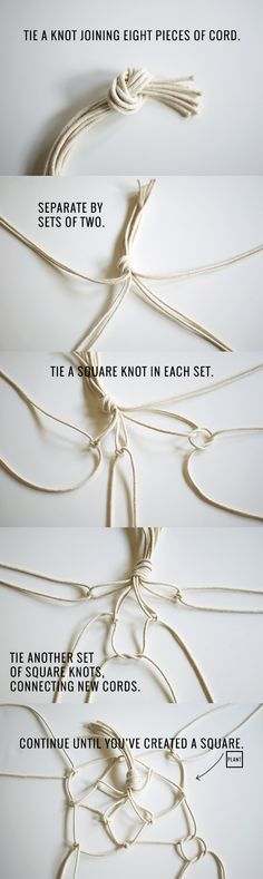how to make a DIY macramé plant hanger   Inspired to Share