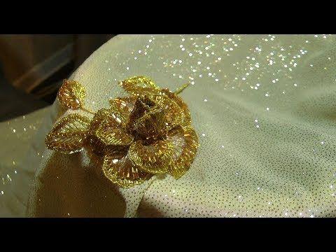 БРОШЬ : РУЧНАЯ ВЫШИВКА \   BROOCH : Hand Embroidery - YouTube
