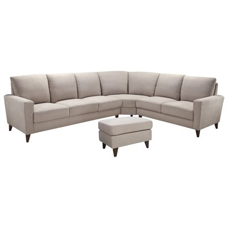 Belgrave Modular 3 Seat Left Hand, Corner, 2 Seat Right Hand & Ottoman Chester Oatmeal | Freedom Furniture and Homewares