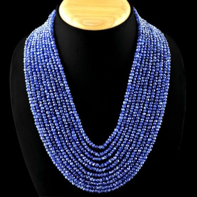 EXCLUSIVE - 10 Strand Genuine Tanzanite Necklace  tanzanite beads, Tanzanian necklace