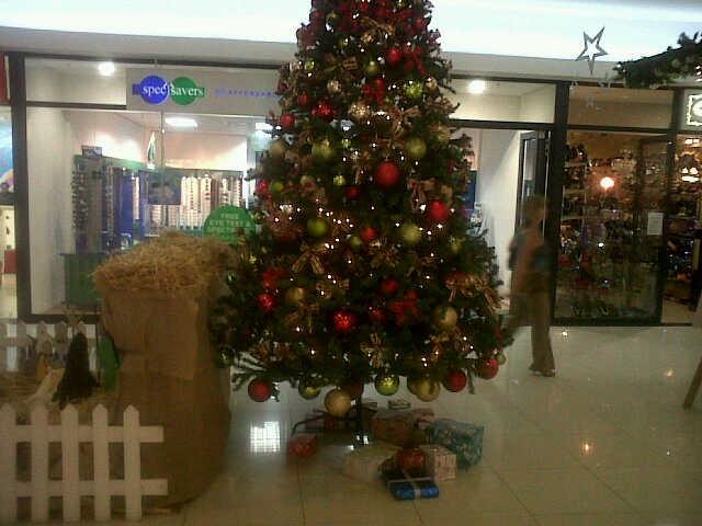 Christmas tree at Hillside mall - Lorelle