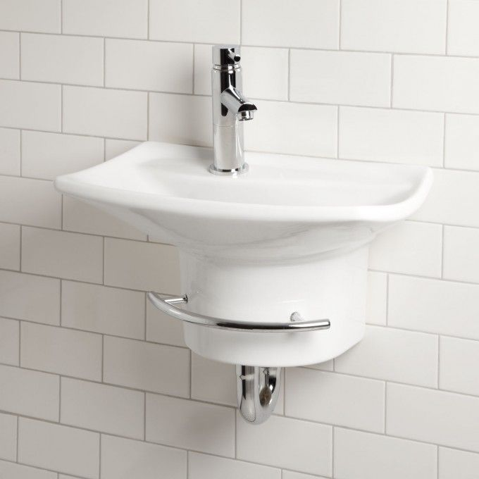 Gallery Wall Mount Sink With Towel Bar