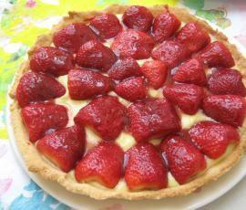 Recette Tarte aux fraises par elleisab - recette de la catégorie Desserts & Confiseries