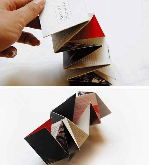 Contoh Brosur dengan Desain Layout Unik dengan Lipatan Cantik Unik - 51