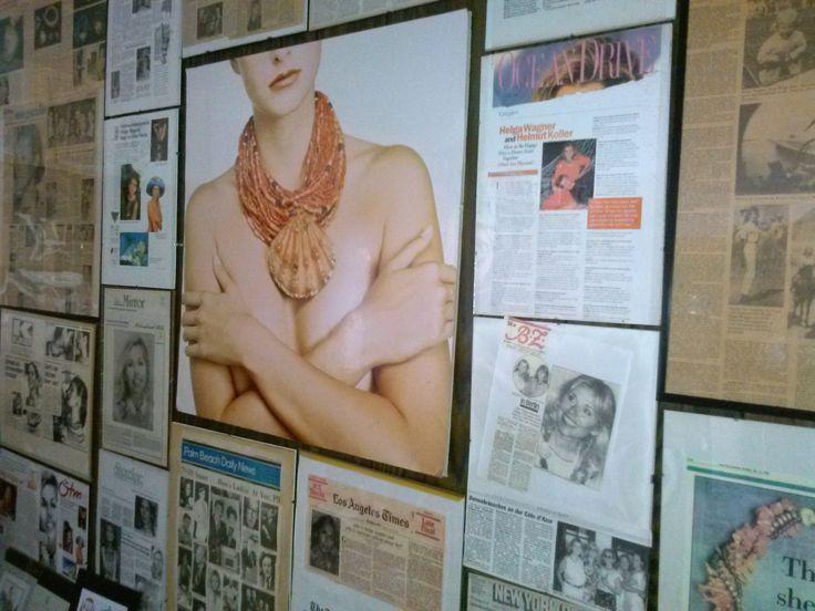 Helga Wagner Collection Studio wall of press
