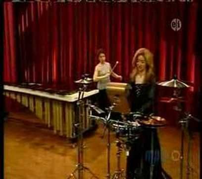 You don't have to be able to hear to be a musician. Percussion duet with Evelyn Glennie and Linda Bove, both of whom are deaf.