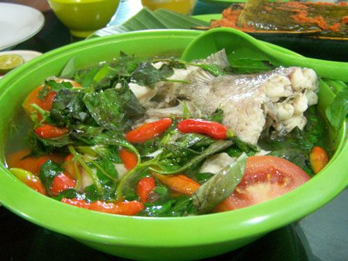 sop ikan gurame, pondok ikan bakar khas kalimantan, cimanggis, Bogor