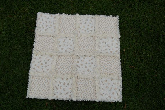 Little Friends Rag Quilt by madebyEin on Etsy