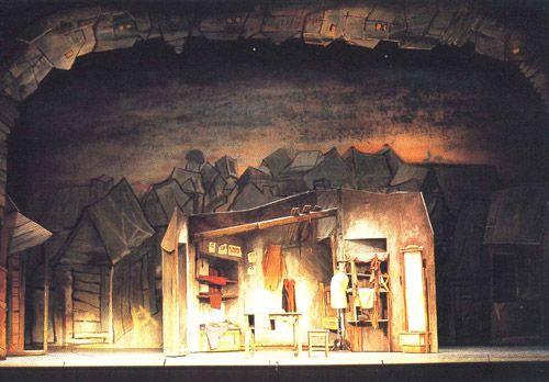 """Boris Aronson's Scenic Design for """"Fiddler on the Roof."""": Aronson Scenic, Theatre Design, Theatre Staging, Scenic Design, Backgrounds, Design Boris, Theatre Sets, Staging Design, Sets Design"""