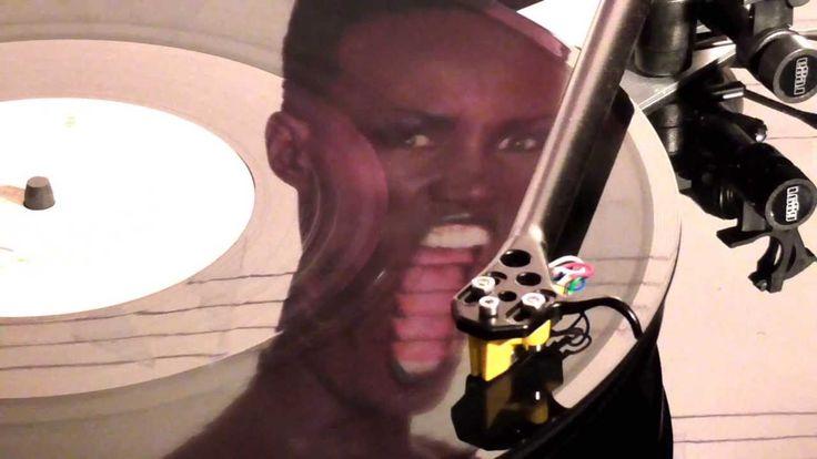 Grace Jones : - Slave To The Rhythm   ( Turntable : Rega RP6 , Cartridge...