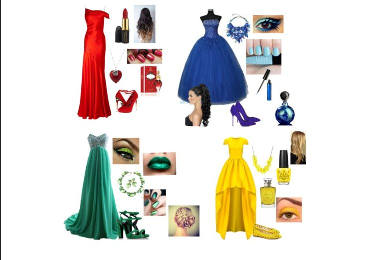 Hogwarts house prom dresses