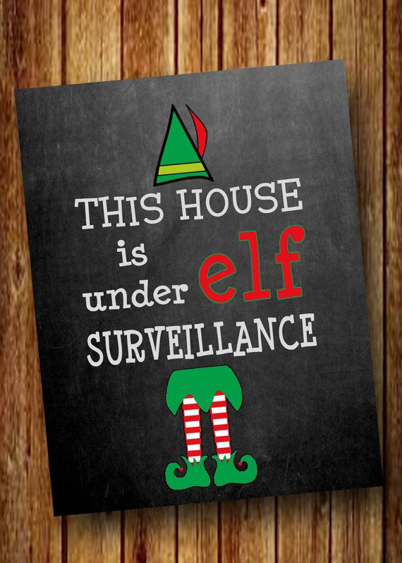 Hey, I found this really awesome Etsy listing at https://www.etsy.com/listing/213453631/elf-surveillance-elf-on-the-shelf