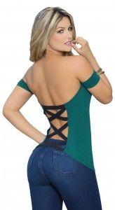 Blusas con escotes en la espalda 9