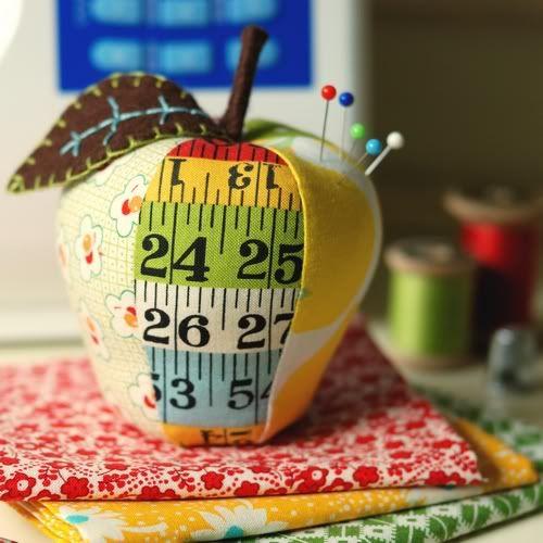 Apple pincushion idea