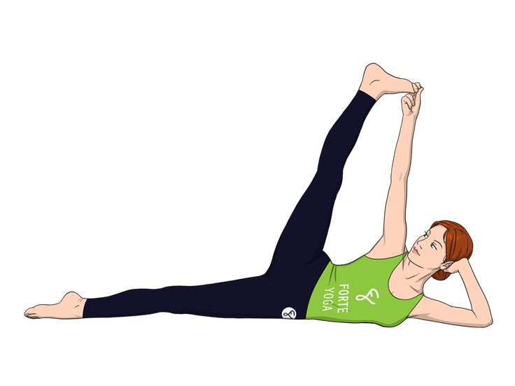 Side Reclining Leg Lift Yoga Pose